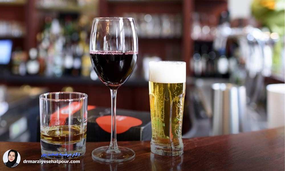 مصرف الکل و خشکی دهان